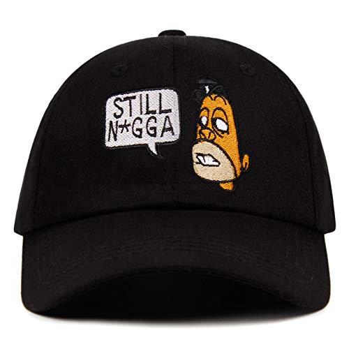 RQJOPE Gorra de béisbol de algodón todavía papá sombrero burlesque Strapback policía perro burro adj mesa no estructurada gorra de béisbol hombres mujerModa deportes y ocio sombrero de sol