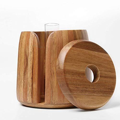 ZSY Tissue-Box, Akazien Tissue-Box, kann mit Tissue-Box Retro-Mode, Familie, Wohnzimmer, Esszimmer, Hotel, Schreibtisch, Bad, Schlafzimmer Papierhalter gepflanzt Werden