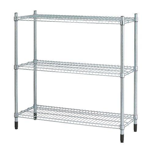 IKEA OMAR - Scaffalatura zincata, 92 x 92 x 36 cm