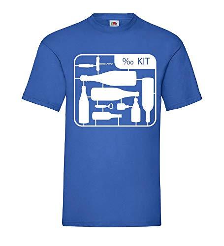 Shirt84.de - Camiseta para hombre, diseño de botellas de alcohol azul real S