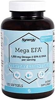 Vitacost Synergy Mega EFA 1200 Omega 3 EPA and  DHA with Natural Strawberry 120 Softgels