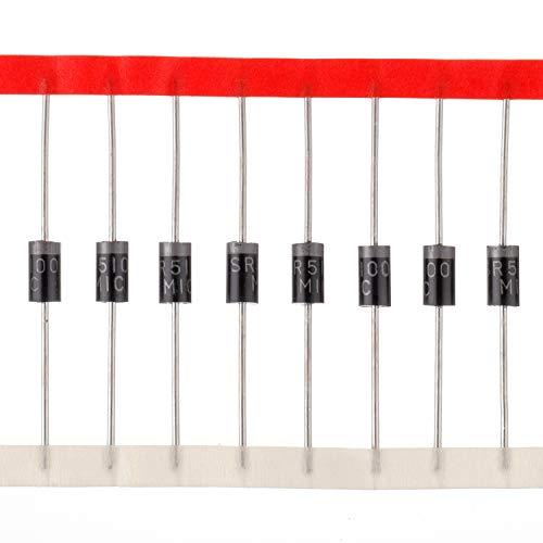 BOJACK SR5100 Schottky Barrier Gleichrichter dioden 5A 100V DO-27 5 Amp 100 Volt Axial dioden (Packung mit 20 Stück)