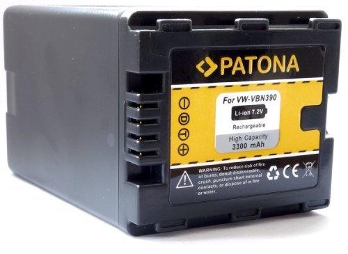 PATONA Ersatz für Akku Panasonic VW VBN390 E K - Big Block - mit Infochip - Intelligentes Akkusystem für HDC SD800 SD900 SD909 TM900 HS900 - HC X929 X810 X909 X900 X800 usw