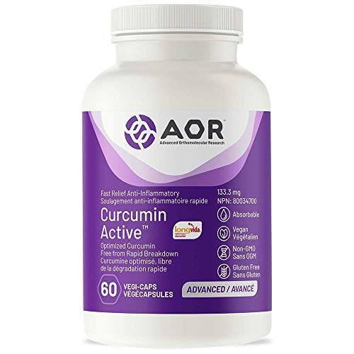 AOR - Curcumin Active 60 Capsules - Fast-Acting Relief for Exercise-Induced Inflammation