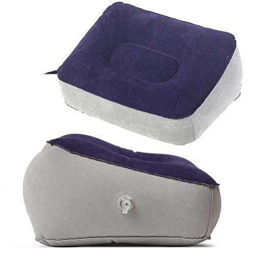 BESPORTBLE 2 STÜCKE Aufblasbare Füße Rest Kissen Stützkissen Bein Fuß Entspannen Kissen für Outdoor Travel (Grau Blau + Grau)