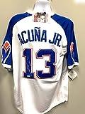 Ronald Acuna Jr Atlanta Braves Signed Autograph Jersey White Throwback JSA Certified