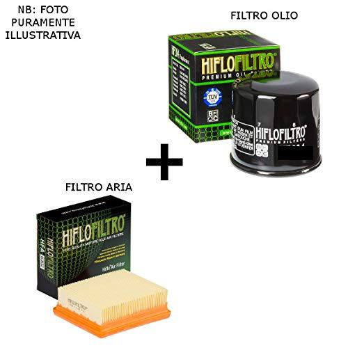 Kit de filtro de aire + filtro de aceite HiFlo compatible con BMW F 650 Funduro 1993 2000
