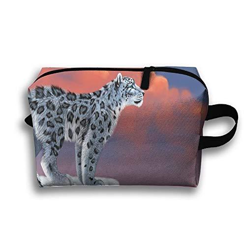 Bolsos cosméticos del Viaje de la Bolsa del Maquillaje del Tigre Blanco del Leopardo del Tigre para los Regalos Jovenes para Mujer