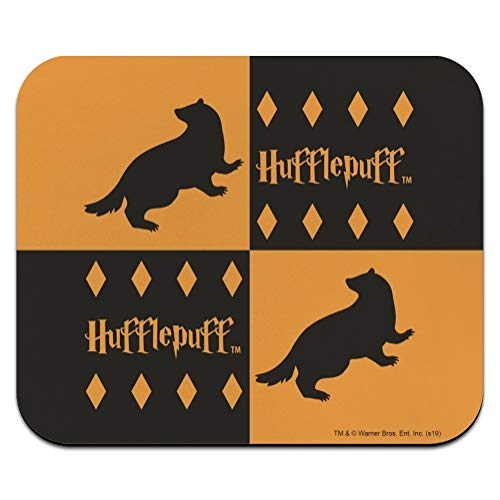 Harry Potter Hufflepuff Pattern Low Profile Thin Mouse Pad Mousepad