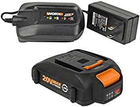 Worx (1) WA3742 20V Battery Charger and (1) Worx WA3575 20V Battery (Tool NOTIncluded)