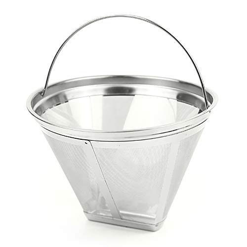 NEYOANN Filtro de café reutilizable, filtro de café de cono se puede reutilizar, apto para cafetera o HOMEZEST