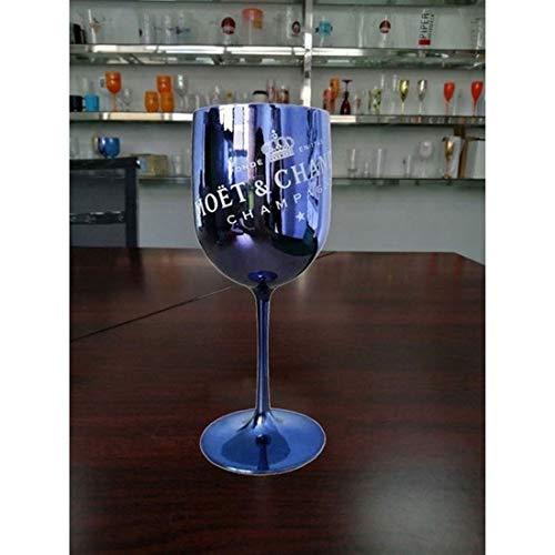2pcs Flauti Champagne, Bicchieri da Vino Champagne Coupes Bicchiere da Cocktail per Moet Champagne Flauti Placcatura Tazza Vino Calice Elettroplated Bicchiere da Vino in Plastica