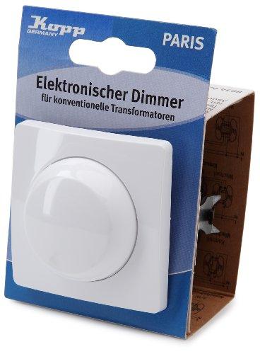 Kopp 803402087 Dimmer Paris mit Wippen-Wechselschalter (Phasenanschnitt), arktis-weiß