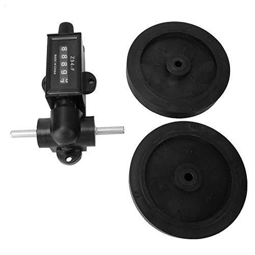Contador de ruedas, 5 dígitos 0-9999.9 Contador de longitud, herramienta de medición de longitud de dígitos Cable de cuero Plástico Longitud Contador de ruedas