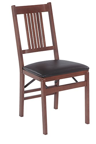 Meco STAKMORE True Mission Folding Chair Fruitwood Finish, Set of 2