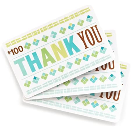 Amazon.com $100 Gift Cards, Pack of 3 (Thank You Card Design)