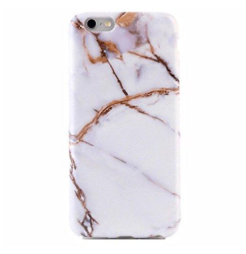 Casesalamode - Carcasa Protectora para iPhone 6 Plus y 6S Plus, Color Blanco y Dorado
