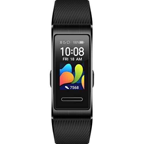 Huawei Band 4 Pro Fitness-Aktivitätstracker (All-in-One Smart Armband, Herzfrequenz- und Schlafüberwachung, eingebautes GPS, 5 ATM wasserfest) Graphite Black
