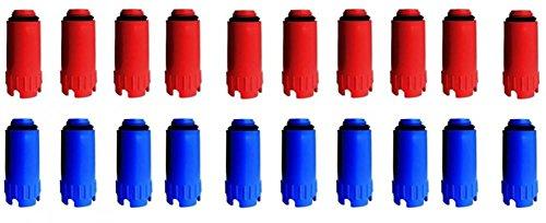 10 Paar Baustopfen 1/2' blau/rot Abdrückstopfen Kunststoffgewinde Dichtprüfung