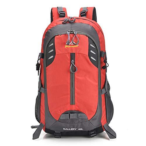 Outdoor Sport Trekking Camping Pack Travel Hiking Backpack 40L Waterproof Camping Backpack Trekking Rucksack For Outdoor Mountaineering Sport Hiking Backpack Waterproof (Color : Red, Size : 40L)