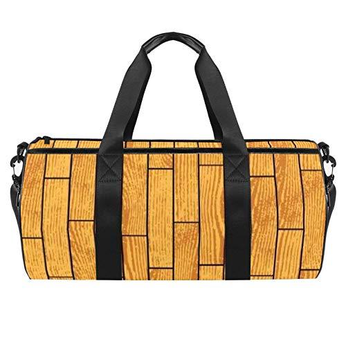 Grunge Wood Parkett Texture Duffel Schultertragetasche Canvas Reisetasche für Gym Sport Tanz Reisen Weekender