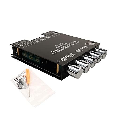 Amplificador Bluetooth Tablero HiFi estéreo 2.1 Canal Control de graves agudos TPA3116D2 2X50W+100W 12V-24V Amplificador de potencia de audio, DIY altavoces inalámbricos A M P Board, sin contraseña