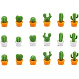 18Pcs Cactus Refrigerator Magnets, Benbo Cute Mini Creative Notice Message Magnetic Stickers Whiteboard Magnet Decorative Locker Fridge Stickers for House Office Use
