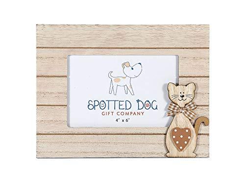 SPOTTED DOG GIFT COMPANY Cadre Photo Bois 10x15 avec Motif Chat pour Amoureux des Chats et Animaux