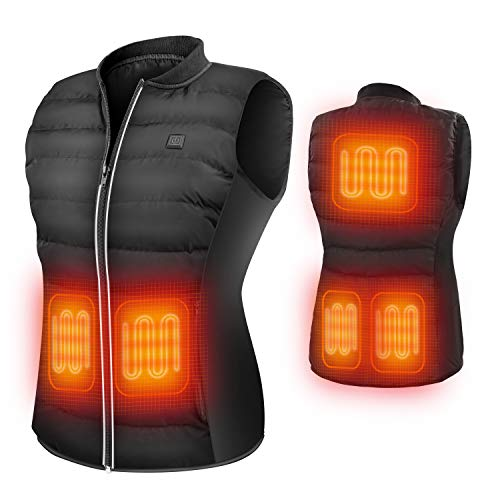 ZLTFashion 5V Heated Vest USB Charging Electric Lightweight Heating Clothing Size Adjustable Warm Vest Washable Heated Jackets for Women Motorcycle Camping (Battery Not Included)