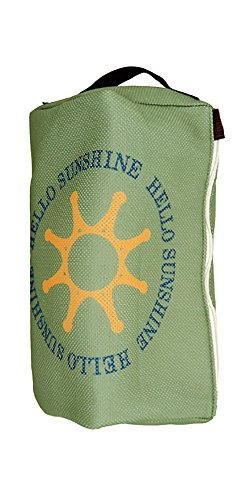 【Hello Sunshine/ハローサンシャイン】 ランドリーポーチバッグ (洗濯・乾燥機OK) カーキ LAU-03-1