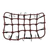 TOOGOO Red de Equipaje Elástica para 1/10 Traxxas TRX-4 RC Car Rock Crawler Parts (Red 110 x 130Mm)