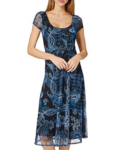 Desigual Vest_Capri Vestido Casual, Azul, L para Mujer
