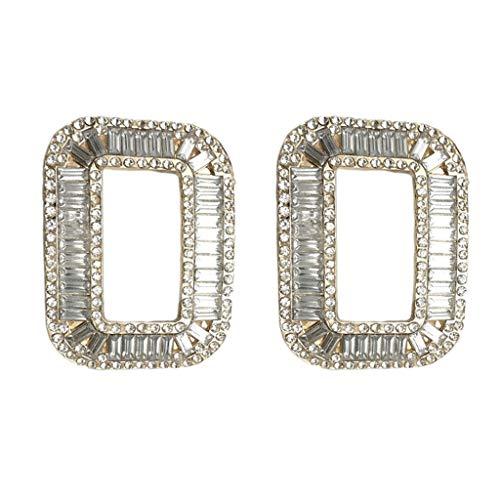 F Fityle Clips de Zapato de Diamantes de Imitación Plateados para Mujer,...