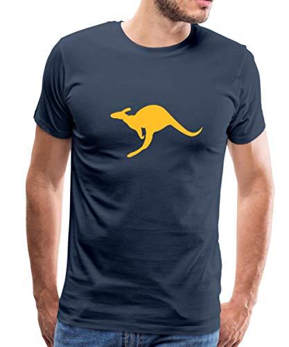Känguru Australien Beuteltier Männer Premium T-Shirt, S, Navy