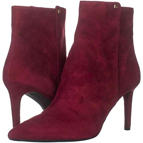 Price comparison product image Michael Kors Womens Dorothy Flex Leather Pointed Toe Ankle,  Maroon,  Size 8.0