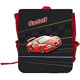 Kinder-Rucksack mit Namen Rudolf und schönem Racing-Motiv   Rucksack   Backpack