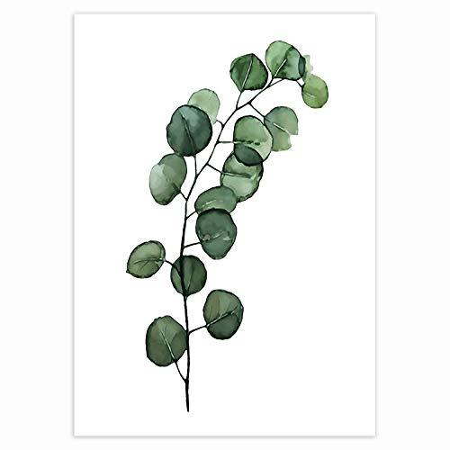 ZNLEY.O Canvas Muur Foto's Nordic Tropical Plants Scandinavian Poster Green Leaves Decoratieve Picture Moderne Kunst Van De Muur Canvas Schilderijen Home Decoration