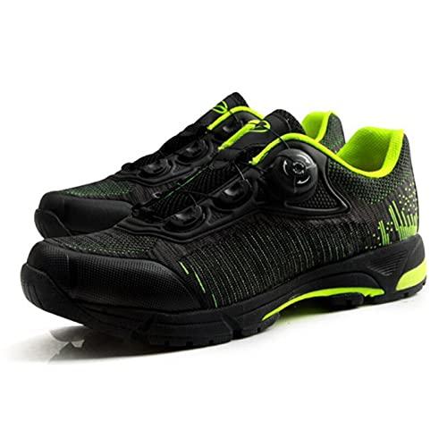 ZHBW Zapatos de Ciclismo Auto-Bloqueo MTB Malla Transpirable Bicicleta Superior de Bicicleta de Ocio al Aire Libre Zapatillas de Deporte (Color : Verde, Shoe Size : 38 EU)