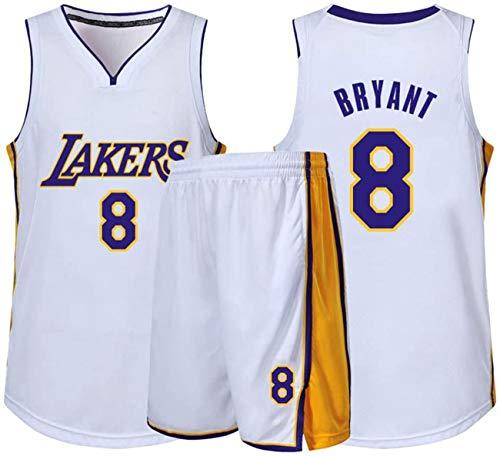 YCJL Maglia da Basket per Bambini NBA Lakers 8# Kobe Bryant Adulti Bambini Divisa Sportiva da Competizione Unisex, Set di Vestiti Abbigliamento Sportivo,C,L:160~165cm
