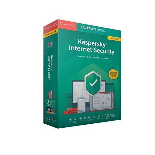 Kaspersky Internet Security 2019 Mise à jour (3 Postes / 1 An)