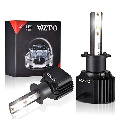 WZTO H1 LED Bombilla Luz de Niebla 3500 Lumen 100W Bombilla para Coche Super Brillante CSP Chips 6000K IP68 Impermeable Duradero