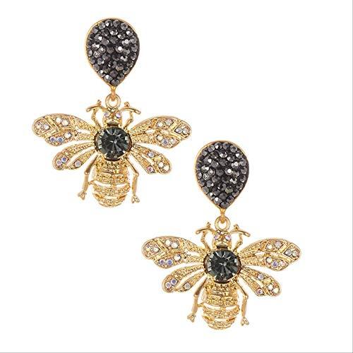 Orecchini regali Orecchini ape in cristallo Design elegante a forma di insetto Orecchini con strass per orecchini per donne inargento placcato