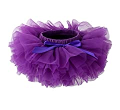 Skorts Slowera Baby Girls Soft Tutu Skirt 0 to 36 Months M: 6-12 Months, Purple