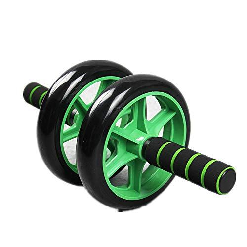 HJKH Bauchübungsrolle Mute Abdominal- Rad-Doppel-Rad Riesenrad Abdominal Radlager Abdominal Rad Fitness-Tools (Color : Green, Size : 18.5x38cm)