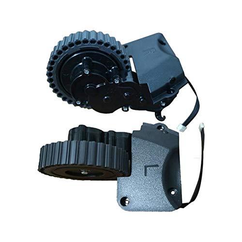 XUNLAN Juego de 2 ruedas de motor L + R para aspiradoras Ilife A4 A4S A40 A8, proporciona la mejor protección para mantener tu aspiradora trabajando en uso (color negro)