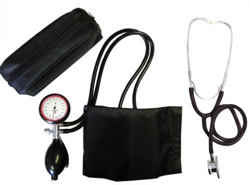 Blutdruckmessgerät Oberarm 2-Schlauch + Stethoskop Doppelkopf schwarz (1 Set = 2 Artikel) Doppelkopfstetoskop Stetoskop Stetoskope Tiga-Med