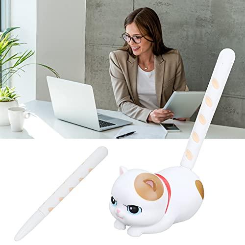 Bolígrafo de gel, cómodo de usar, bolígrafo de gel para tomar notas, bolígrafos de gato bonitos para oficina, escuela, escritura, dibujo, tomar notas, bosquejar(White cat gift box)