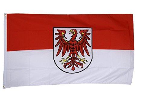 Flaggenfritze Fahne/Flagge Deutschland Brandenburg - 150 x 250 cm + gratis Sticker, XXL-Fahne