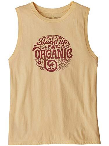 Patagonia Damen T-Shirt W's Root Revolution Organic Muscle Tee S Kerze, Pfirsich