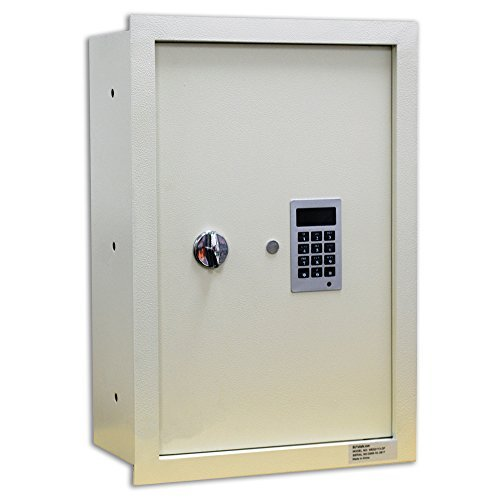 "BUYaSafe WES2113-DF Fire Resistant Electronic Wall Safe 8"" Deep for Deeper Walls"